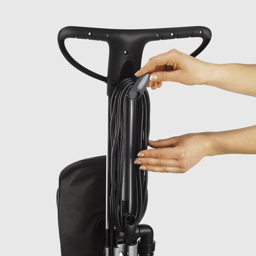 Cord storage directly on the handle